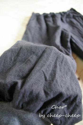 裾リブパンツ4
